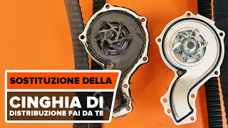 Come cambiare Pompa acqua + kit distribuzione VW GOLF III (1H1) - video tutorial