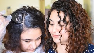 Coloring my Curly Hair in INDIA