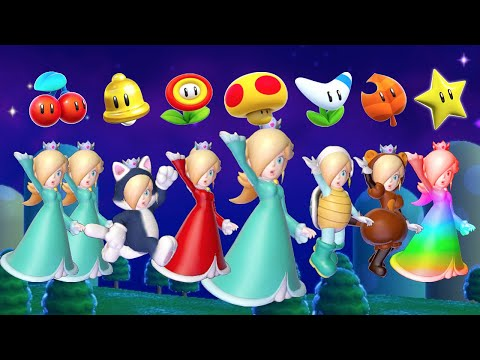 Super Mario 3D World - All Rosalina Power-Ups