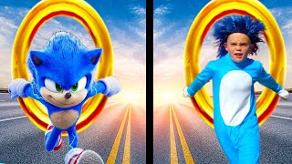 Sonic the Hedgehog VS Dr. Robotnik! Race for the Giant Golden Ring!