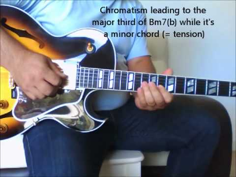 Fly Me To The Moon jazz guitar with scale explanations - YouTube