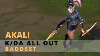 KDA All Out Akali BADDEST Chroma - League Of Legends