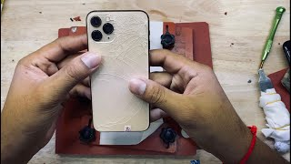 iPhone 11pro 15min for replacement backglass...(4k video)