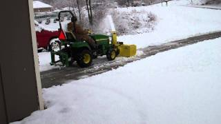 john deere 2305 compact utility with 54 blower