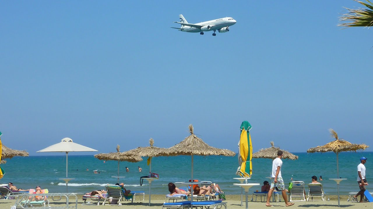 Mackenzie Beach in Larnaca, Cyprus - Planes landing - YouTube