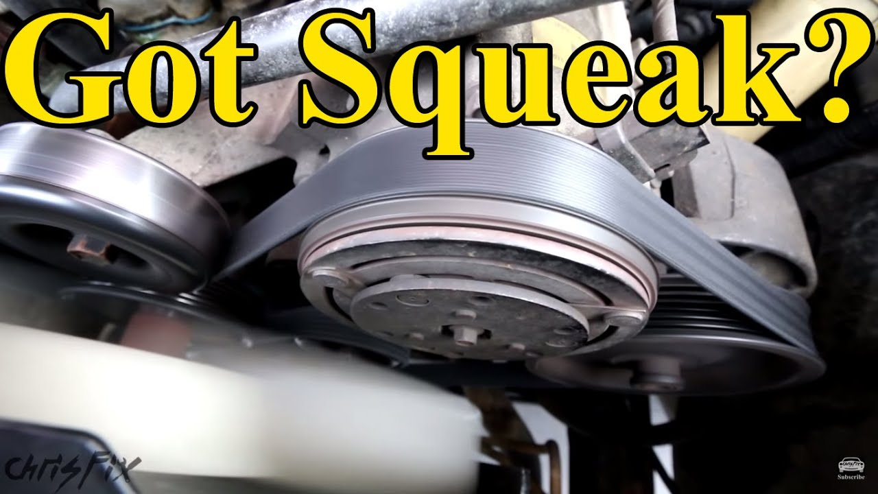 How to Fix a Squeaky Belt (figure out where the squeak is ...