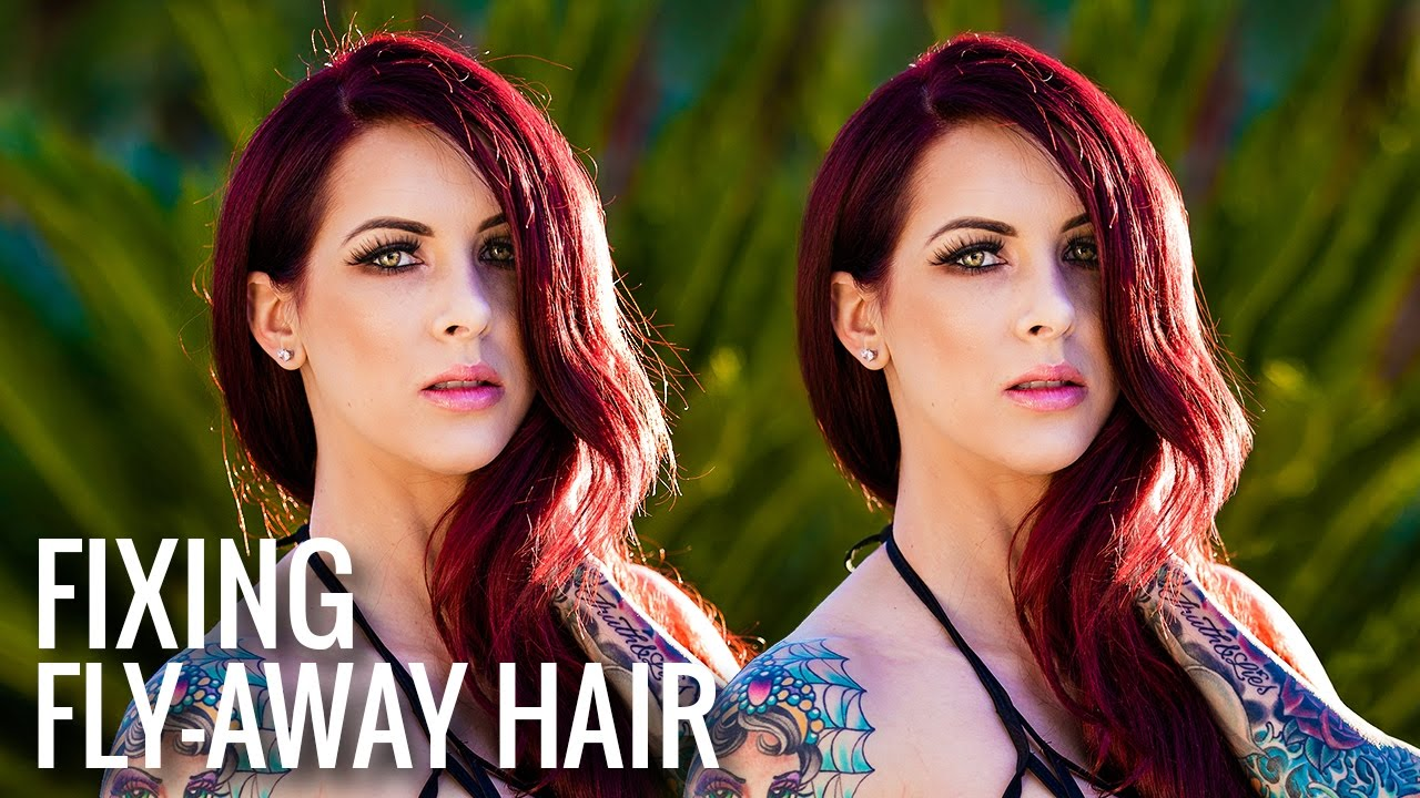 3 Steps to Remove and Fix Flyaway Hair or Stray Hair in Photoshop
