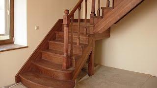 изготовление деревянной лестницы часть 2(Лестница своими руками., 2015-01-03T11:58:01.000Z)