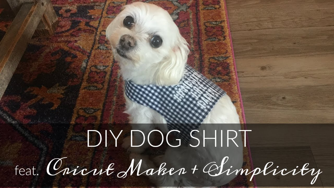 DIY Dog Shirt Tutorial feat. Cricut Maker & Simplicity 2393