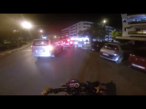 Ride in Rabat Agdal by night