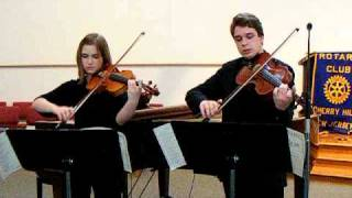 "PASSACAGLIA, ""The Impossible Duet"" for Viola & Violin, HANDEL-HALVORSEN, Brother & Sister Students"