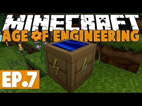 Minecraft Age of Engineering! #7 - Solar Power & Tinkers' Hammer! [Twitch VoD]
