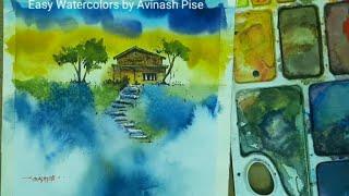 Watercolor Painting Demo by Avinash Pise      #watercolordemo#watercolorpainting#artist#stepbystep