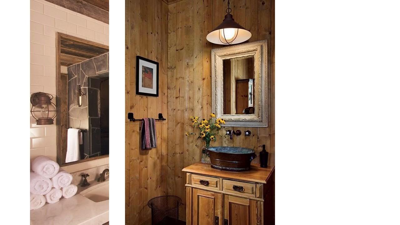 Ideas de decoración de baño rústico - YouTube