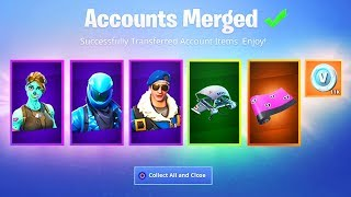 How to MERGE ACCOUNTS in Fortnite..