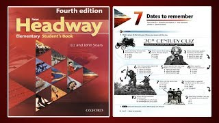 Gambar cover (Update) New Headway Elementary Student's Book 4th :Unit.7 -Dates To Remember