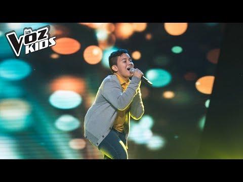 Samuel Morales canta Mírame Fijamente - Audiciones a ciegas | La Voz Kids Colombia 2018