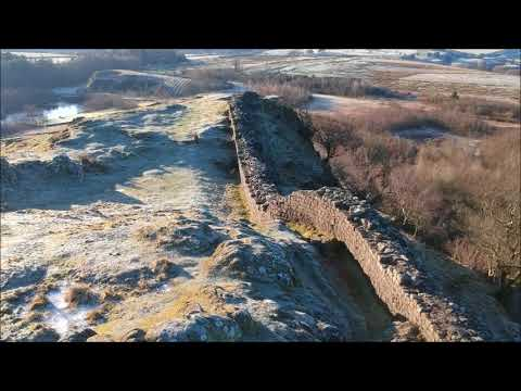Hadrian's Wall (Roman Wall) Aerial Video Cinematic HD