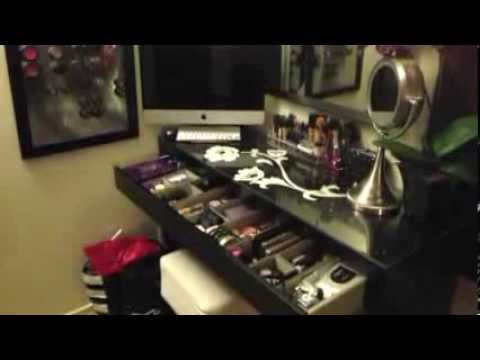 Ikea Malm Vanity Makeup Dressing Table Storage Youtube