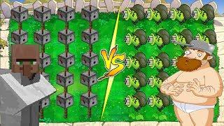 Plants vs Zombies : Gatling Pea Minecraft vs Gatling Pea
