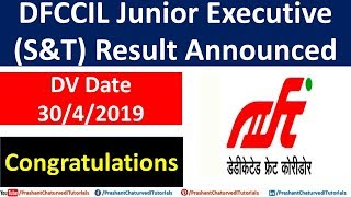 DFCCIL Junior Executive (S&T) Result Announced: Heartiest Congratulations!! thumbnail