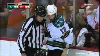 Pavel Datsyuk & Torrey Mitchell Roughing Penalties 05/10/11