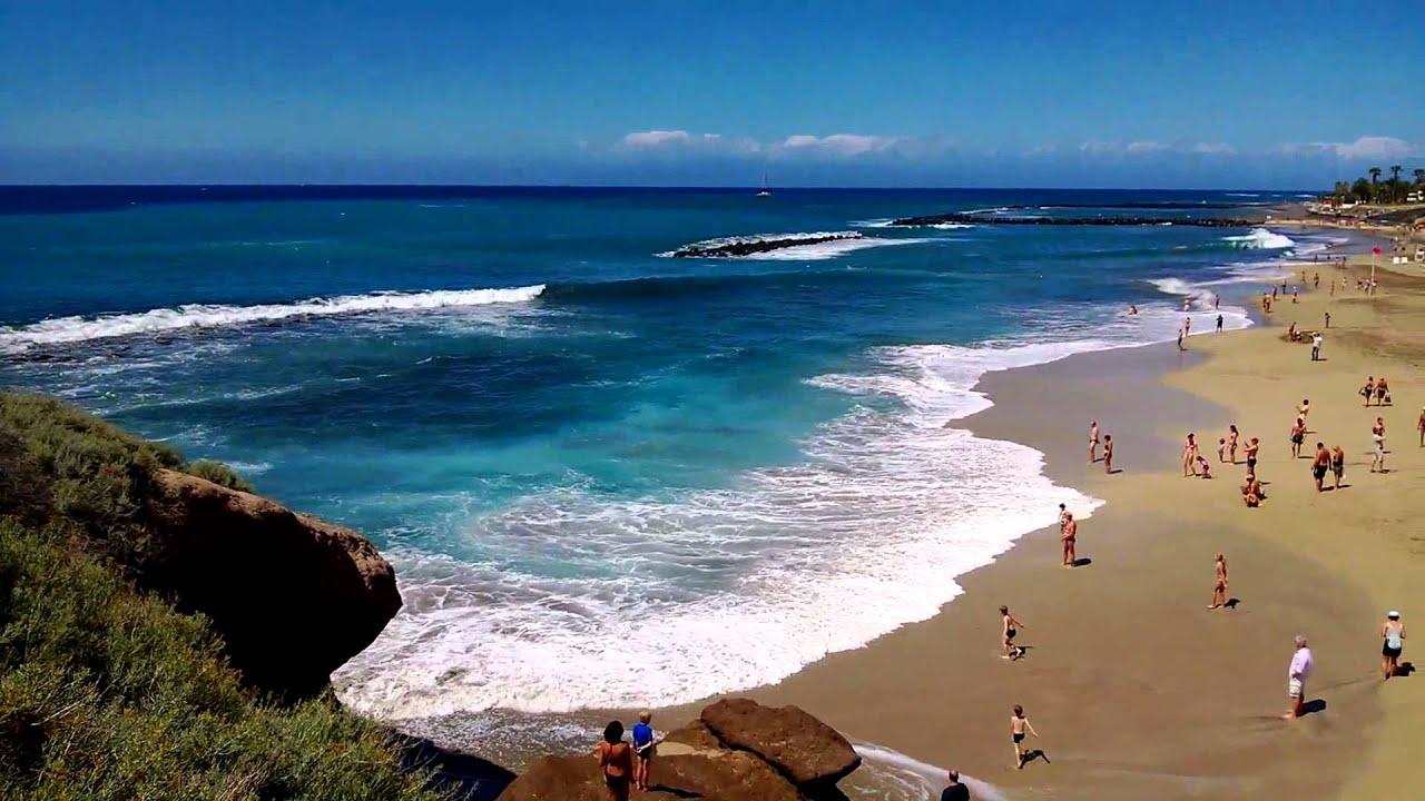Playa del Duque Costa Adejé Tenerife - YouTube