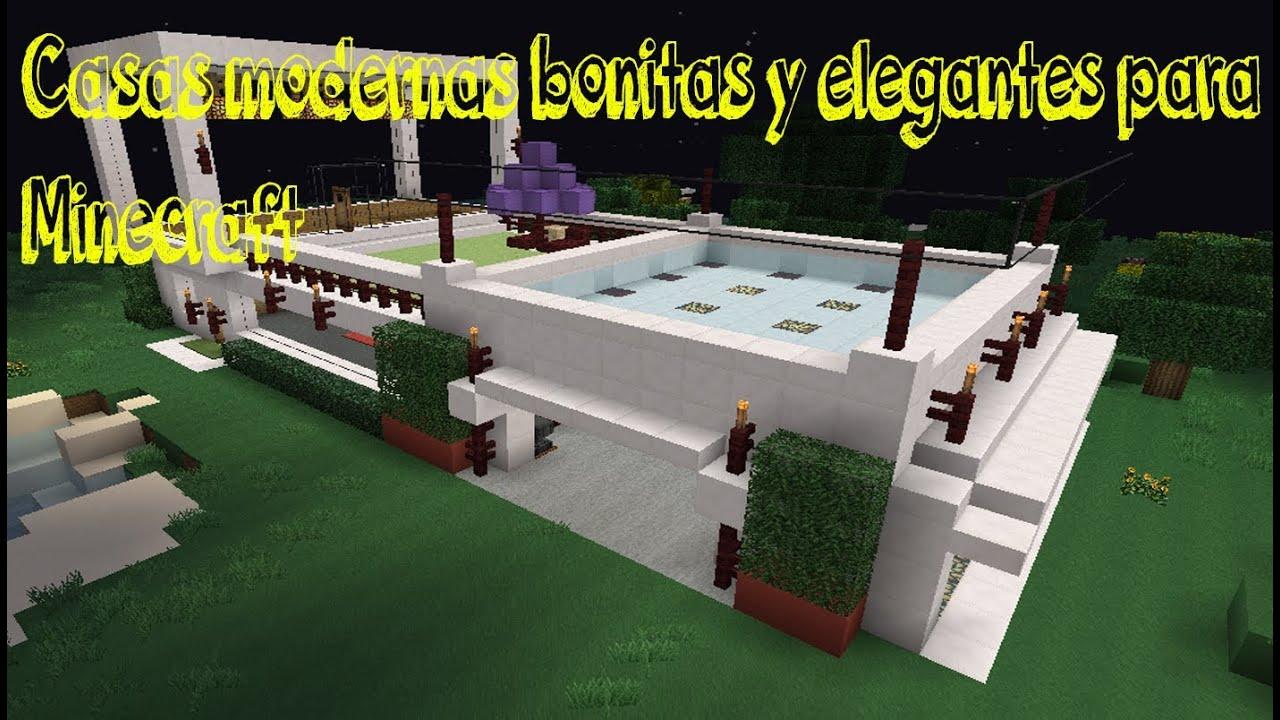 Tutorial minecraft como hacer una casa moderna y youtube - Como crear tu casa ...