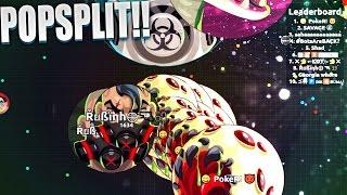 POPSPLIT full strength !! c / PokeR | Agar.io | rubinho vlc