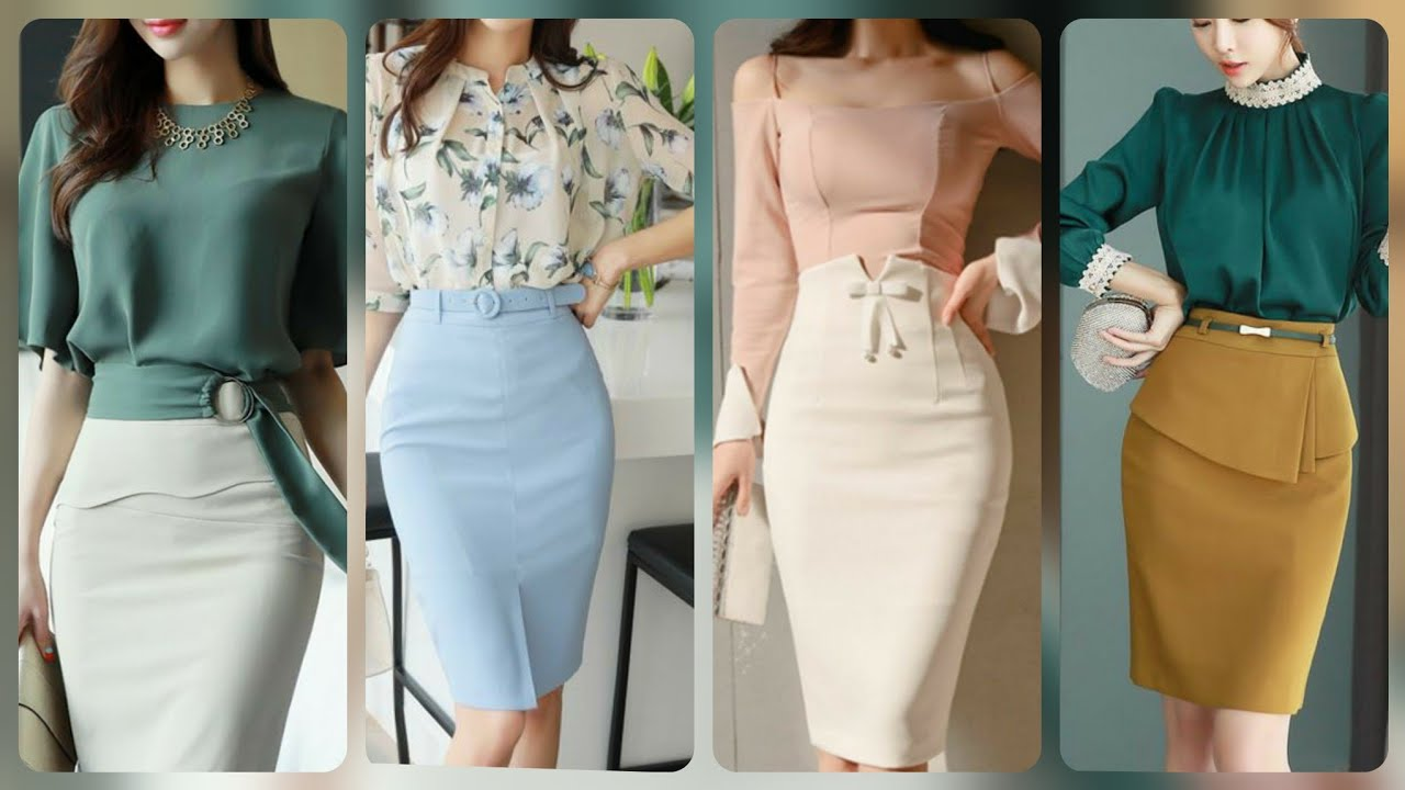 Amazing westren designers professional work wear style women bodycon skirts with shirts blouse2021