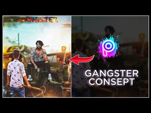 Gangster Photo Editing Tutorial In PicsArt || Action Movie Poster Editing In PicsArt ||-Tiger Editz