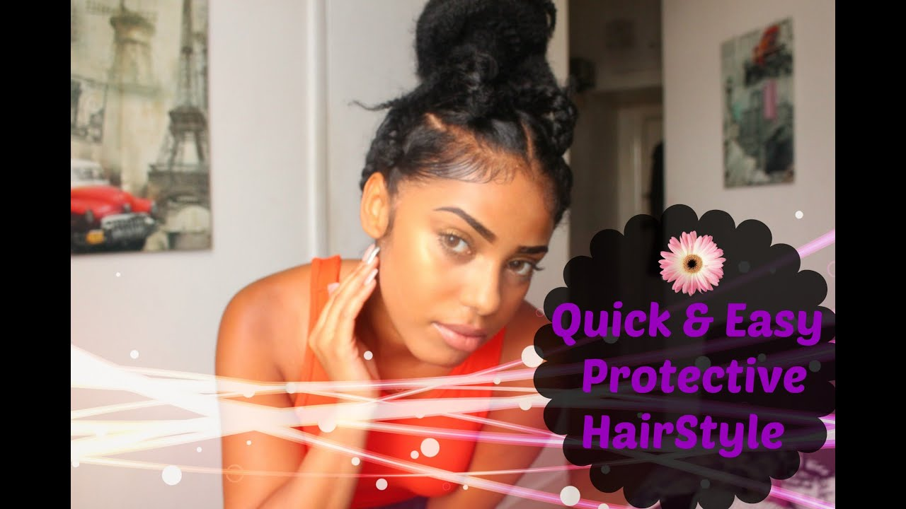 Quick And Easy Protective Hairstyle Jumbo Braids Youtube