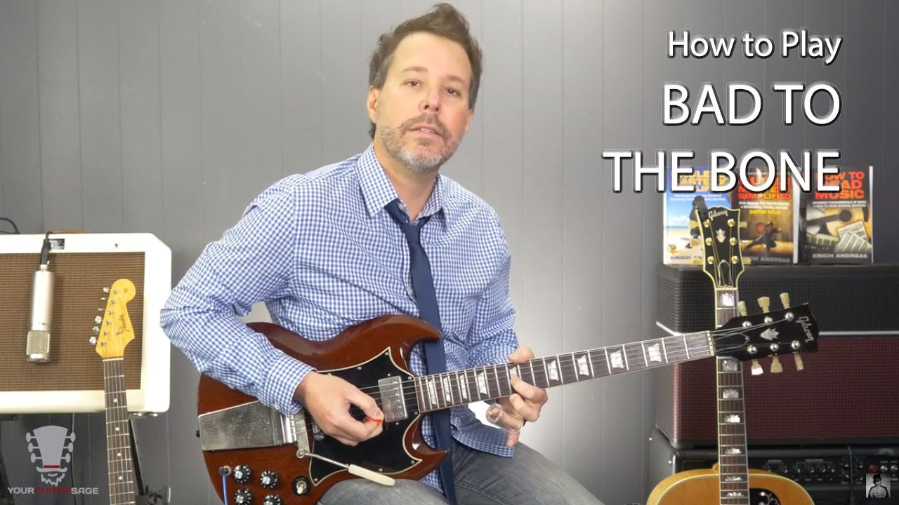 How to Play Bad To The Bone by George Thorogood Guitar Lesson - YouTube