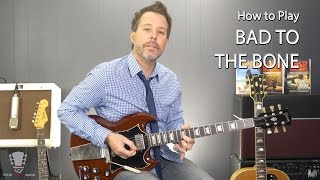 How To Play Bad To The Bone By George Thorogood Guitar Lesson