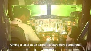 Pointing a laser at aircraft is a crime thumbnail