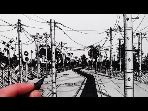 How to Draw Manga Backgrounds: Telegraph Poles