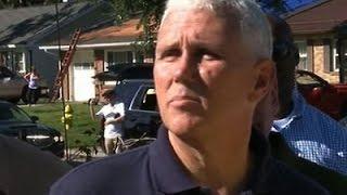Raw: Indiana Gov. Pence Tours Kokomo Damage