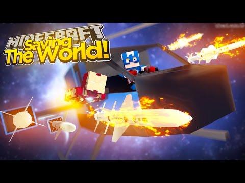 Minecraft Adventure - SAVING THE WORLD FROM EVIL ALIENS!!!