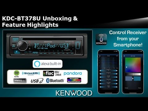 2020 Kenwood Kdc Bt378u Cd Receiver With Alexa Unboxing Feature Highlights Youtube