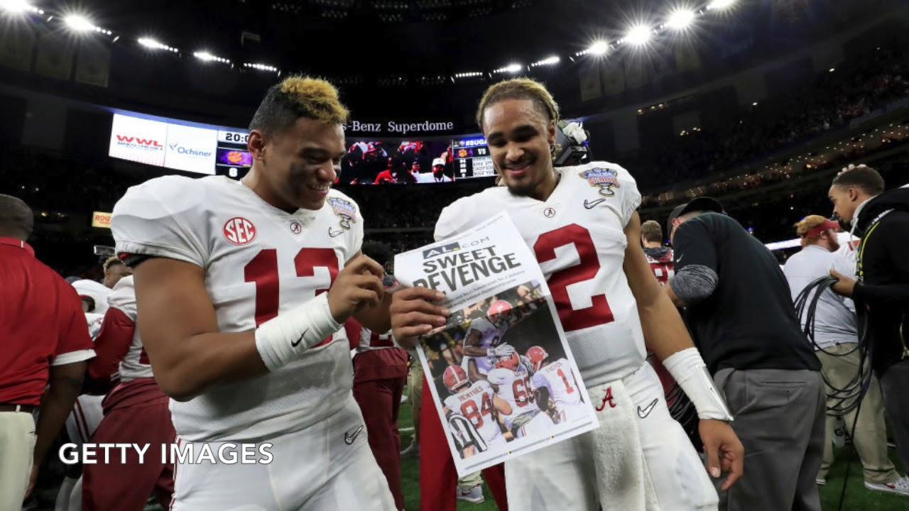 LOOK: Alabama QB Tua Tagovailoa defends Jalen Hurts in wake of fan hate