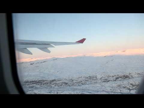 A330 takeoff from Kangerlussuaq (BGSF), Greenland