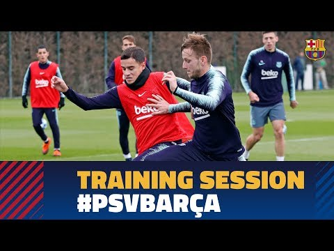 First training session before the Champions League match against PSV
