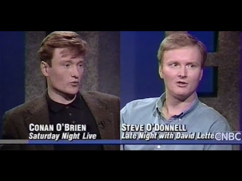 Conan O'Brien & Steve O'Donnell Are Both (White) Harvard TV Comedy Writers (1991 Interview)