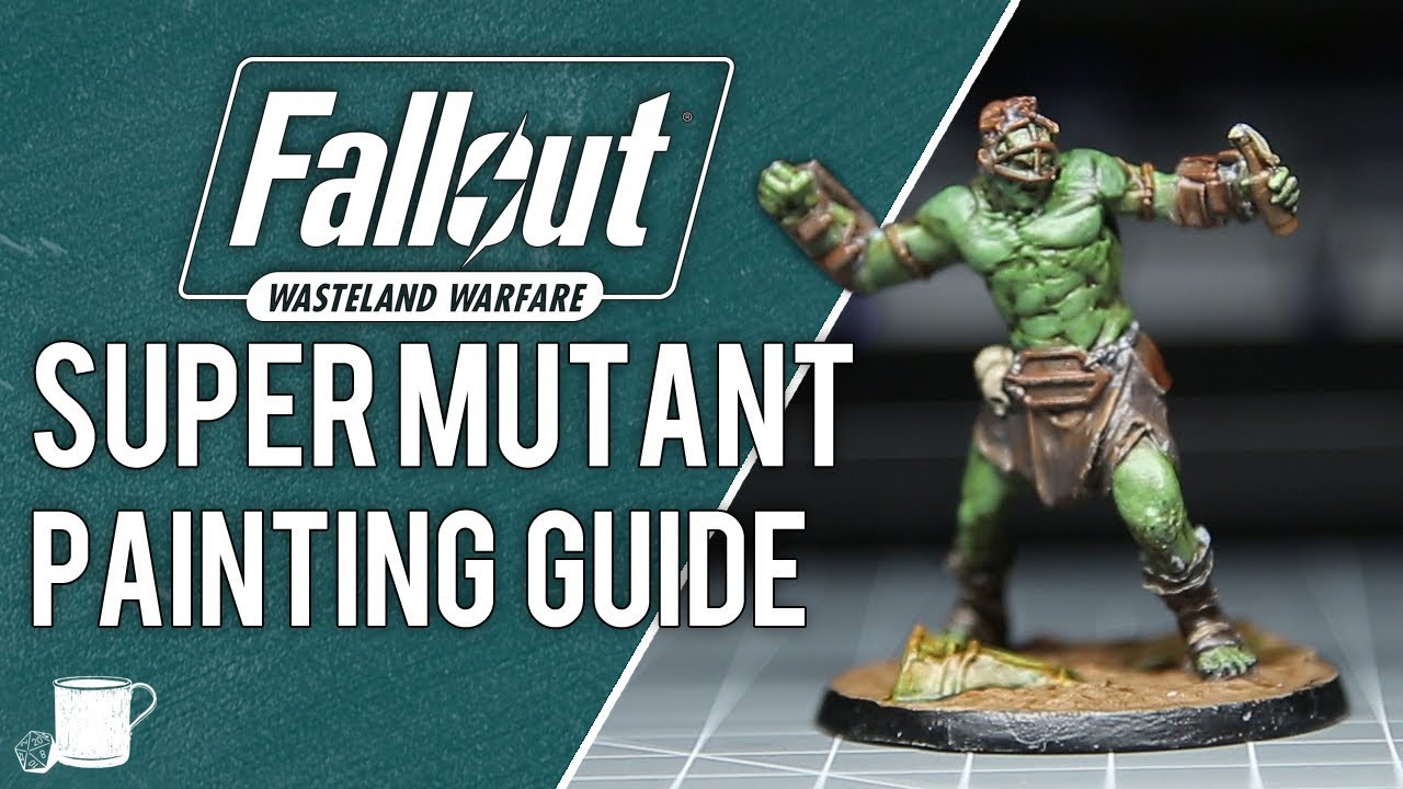 Super Mutant Painting Tutorial from Fallout Wasteland Warfare