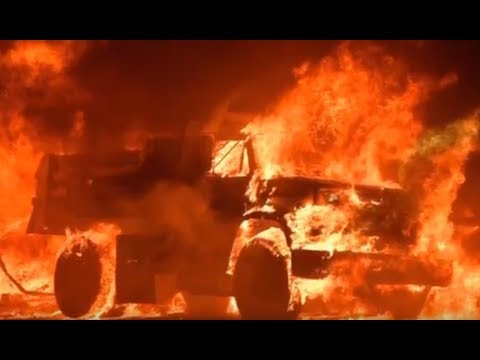 California wildfires mandatory evacuations (footage)