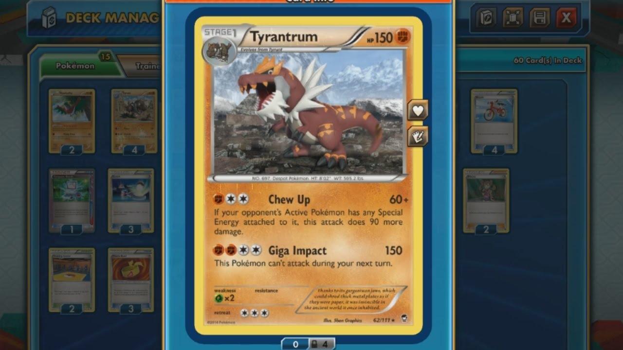 Tcg Jump Featured Match Tyrantrum Deck Pokemon Crossroads