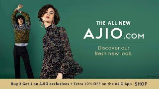 We're all about the new! discover a fresh new look at ajio now. install app : http://bit.ly/ajio_installapp
