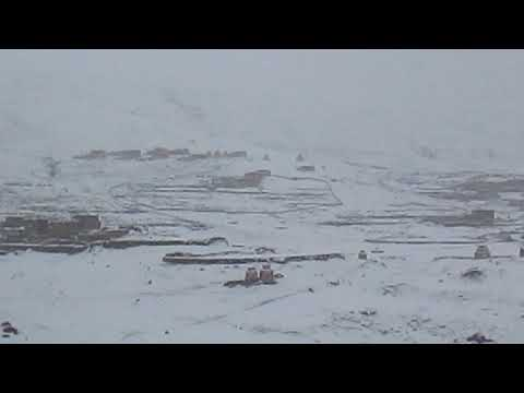 Himalayan Komang Village during snow fall!!!