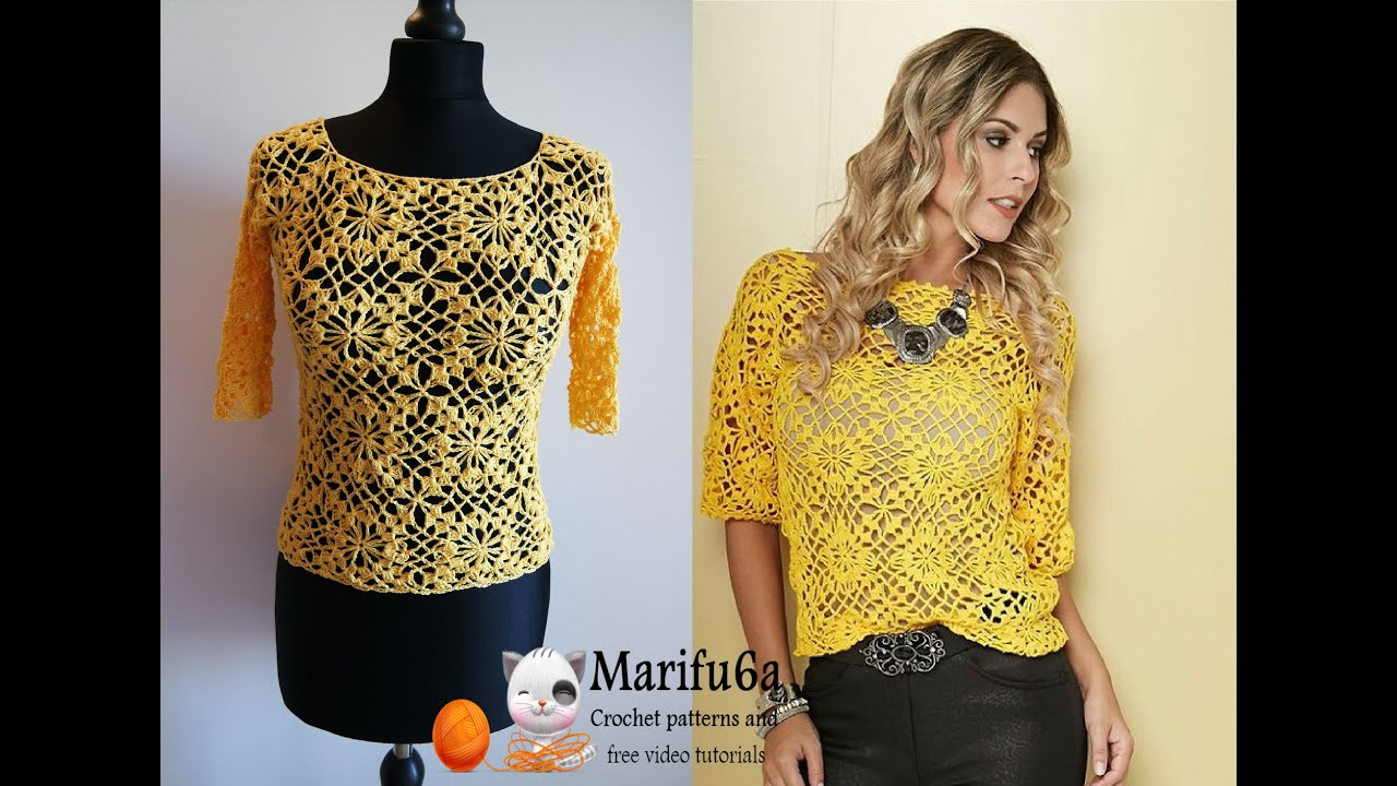 How to crochet yellow top blouse free tutorial pattern all sizes how to crochet yellow top blouse free tutorial pattern all sizes by marifu6a youtube bankloansurffo Image collections
