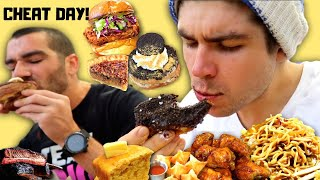 10,000+ CALORIE LA CHEAT DAY w/ NICK DOMPIERRE | DELICIOUS DONUTS, FRIED CHICKEN, CHINESE, & BBQ